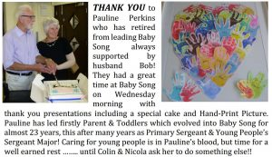 Paulines Baby Song farewell