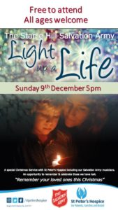 Light Up A Life with St Peters Hospice @ The Salvation Army Staple Hill | England | United Kingdom
